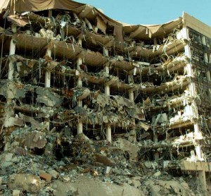 Image of bombed federal building, Oklahoma City April 19, 1995
